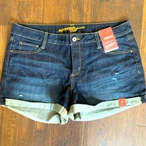 Arizona Jean Shorts, Cuffed, Distressed, Size 15